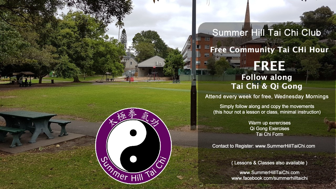 Summer Hill Tai Chi Club Free Community Tai Chi